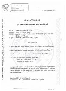 CHARLA COLOQUIO