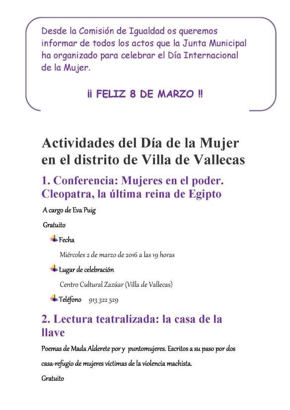 Actividades  Día de la Mujer en Villa de Vallecas_Página_1